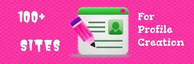 Profile creation site list