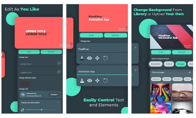 Pixelflow app screenshot
