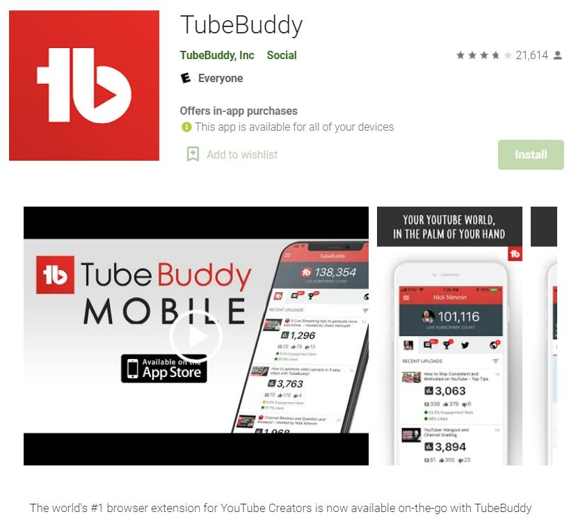 Tubebuddy App